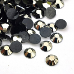 Silver Faceted Round flat backed cabachons (6x2mm) - 5g